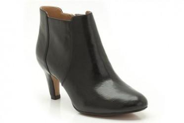lily bordeaux black leather