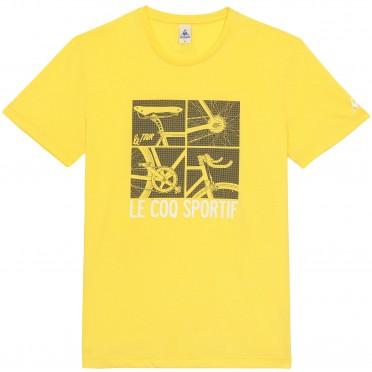 tdf fanwear n°12 tee ss m yellow