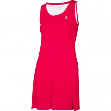 tennis match alive dress w lipstick red