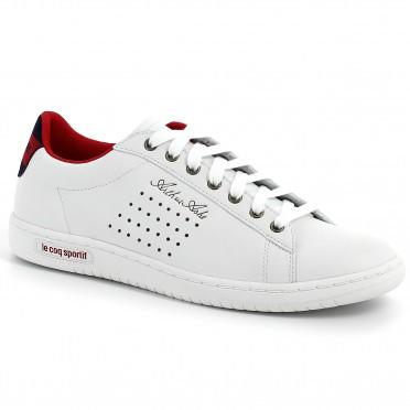 arthur ashe int sport jacquard white/vintage red