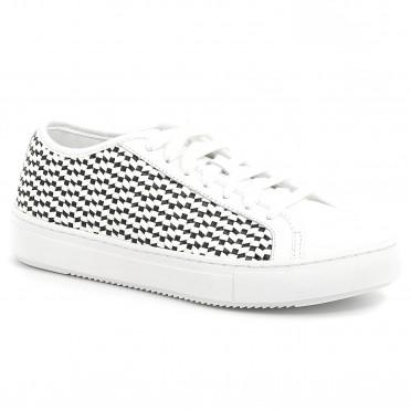 jane woven optical white/black