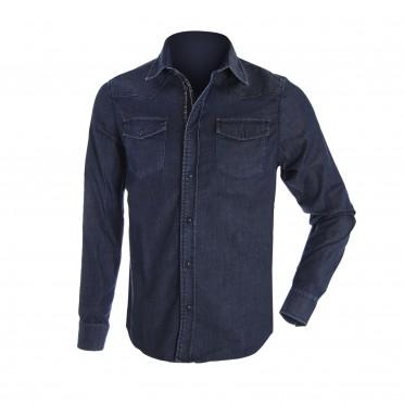 m-camicia ml blu