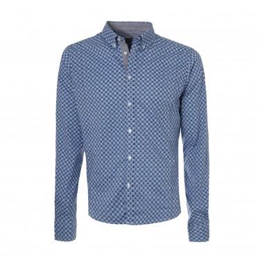 m-l/sleeve slim shirt
