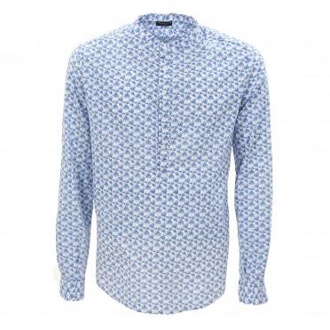 ls shirt blue/white
