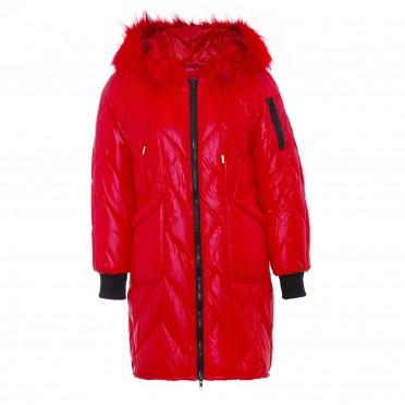 w jacket rosso