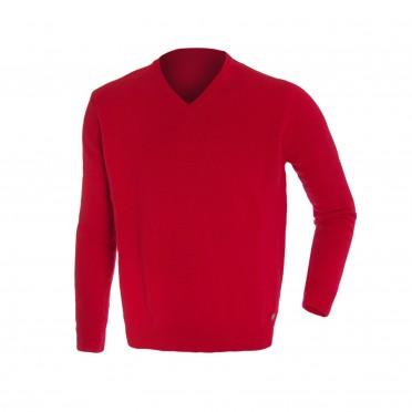 m-maglia collo/v ml rosso