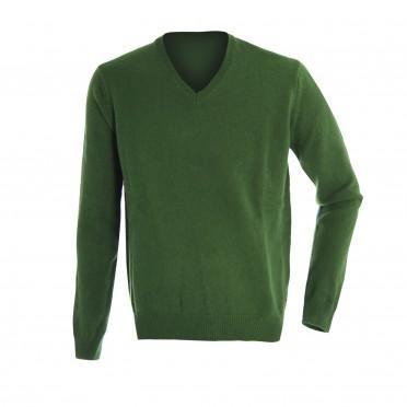 m-maglia collo/v ml verde