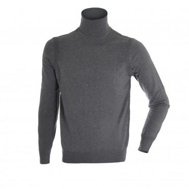 m-maglia c/cicl.ml grigio melange
