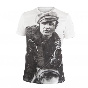 m-t-shirt g/collo mc bianco ottico