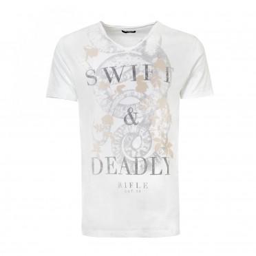 m- t-shirt v-neck ss