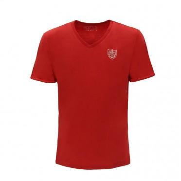m- v neck t-shirt ss