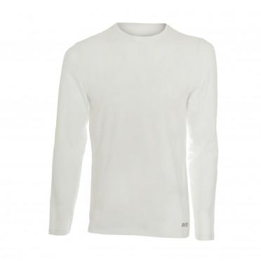 m-t-shirt collo/v ml bianco