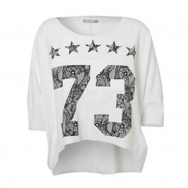 w- 3/4 t-shirt