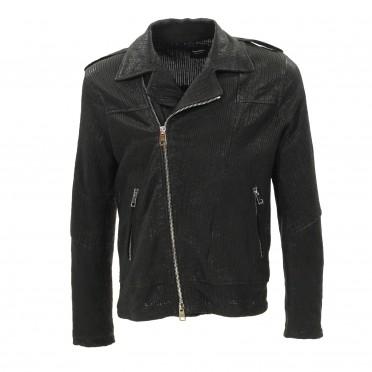 m leather jacket black