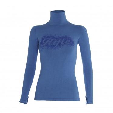w-maglia c/alto ml azzurro
