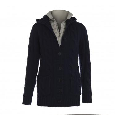 w-cardigan maglia m/l blu