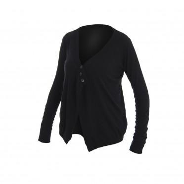 w-cardigan maglia ml nero
