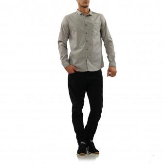 ls shirt dot grey/fango