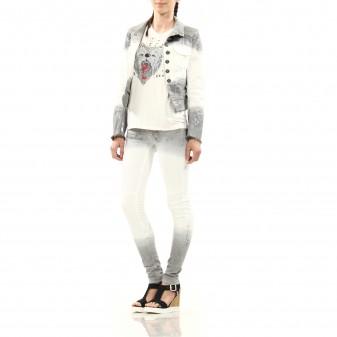 w pant white/silver