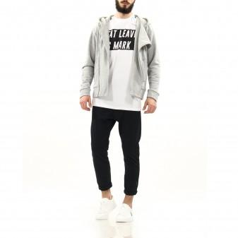 m jacket hoodet grey