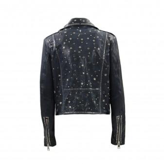 w jacket blue stars