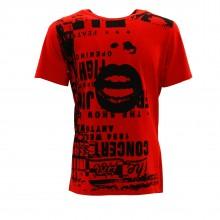 m t-shirt rosso
