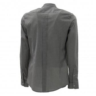 m ls shirt black/wjite