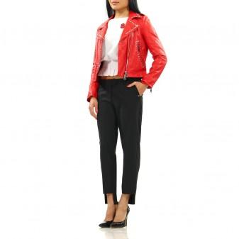 w leather jacket